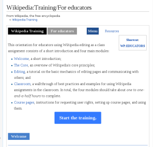 Training for educators