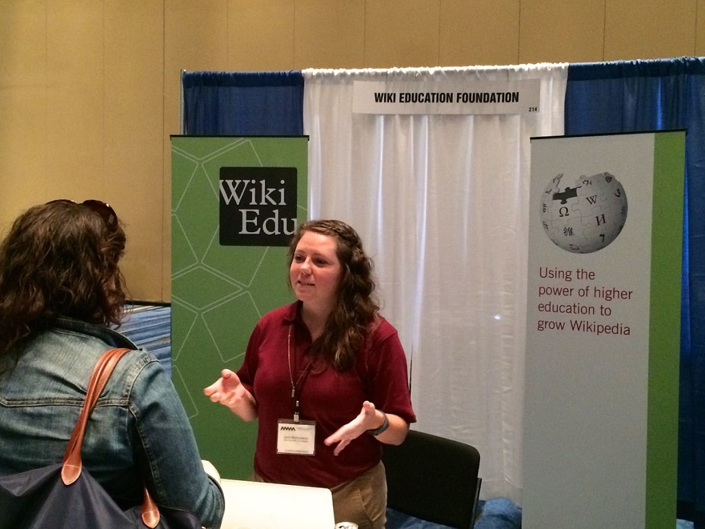 Jami talking to attendees of the National Women's Studies Association's annual conference