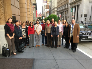 Board and staff of the Wiki Education Foundation in San Francisco.