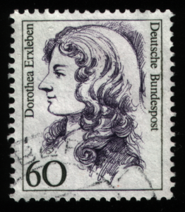 """Frauen 060 Pf Dorothea Erxleben"". Licensed under Public Domain via Wikimedia Commons."