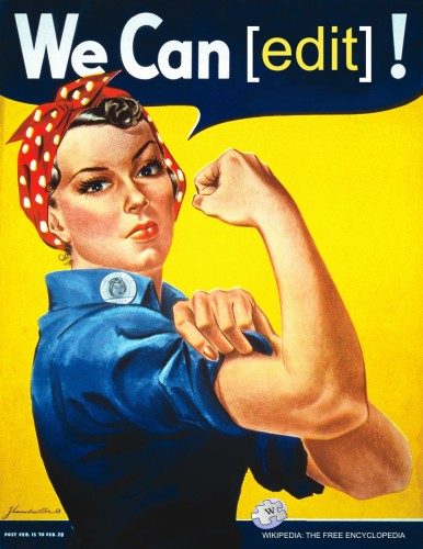 By File:We_Can_Do_It!.jpg: J. Howard Miller, artist employed by Westinghouse, poster used by the War Production Co-ordinating Committeederivative work: Tom Morris - This file was derived from We Can Do It!.jpg: , Public Domain, https://commons.wikimedia.org/w/index.php?curid=18633189