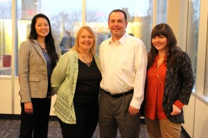 Gender gap panelists Adeline Koh, Sydney Poore, Frank Schulenburg, and Jami Mathewson