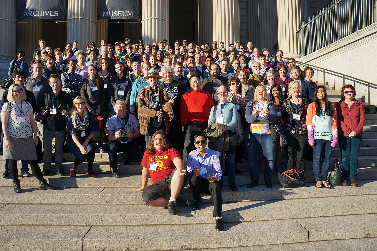 """WikiConference USA 2015 Group Photo 32"" by Geraldshields11 - Own work. Licensed under CC BY-SA 4.0 via Wikimedia Commons -https://commons.wikimedia.org/wiki/File:WikiConference_USA_2015_Group_Photo_32.JPG#/media/File:WikiConference_USA_2015_Group_Photo_32.JPG"