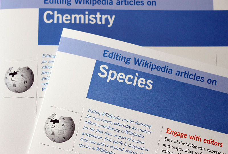 The chemistry and species brochures from the Wiki Education Foundation.