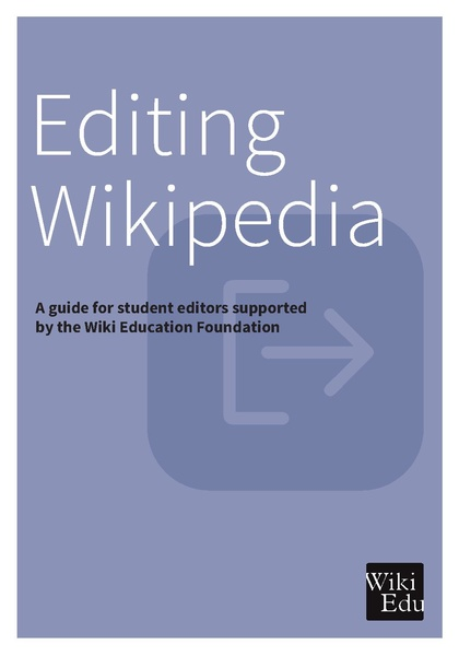 One of the handbooks available free of charge to any student participating in the Wiki Education Foundation's Classroom Program.