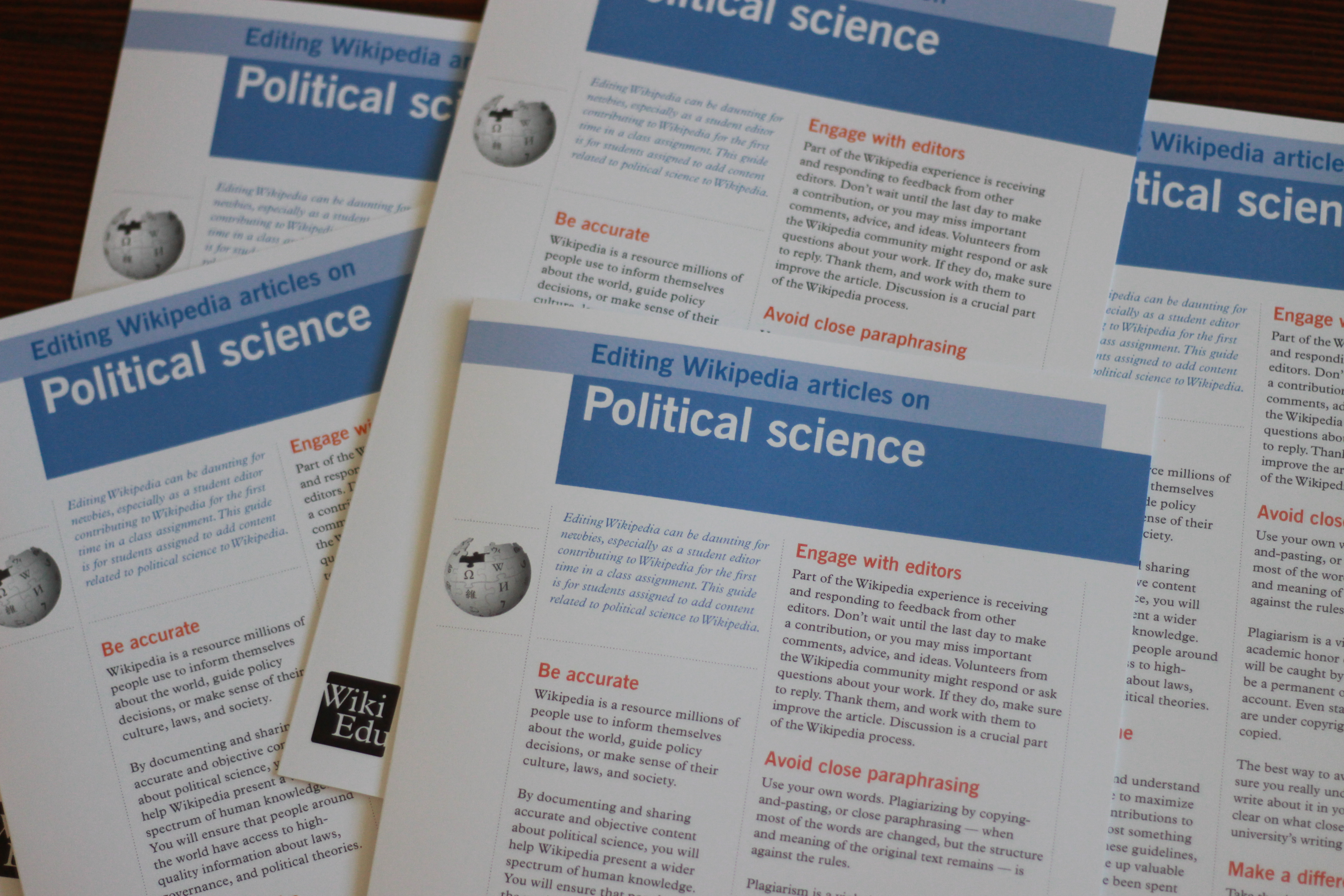 New Brochure Explains How To Edit Political Science Articles Wiki Education Foundation