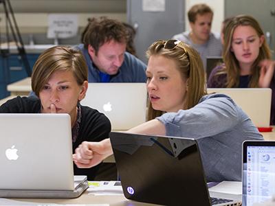 students editing
