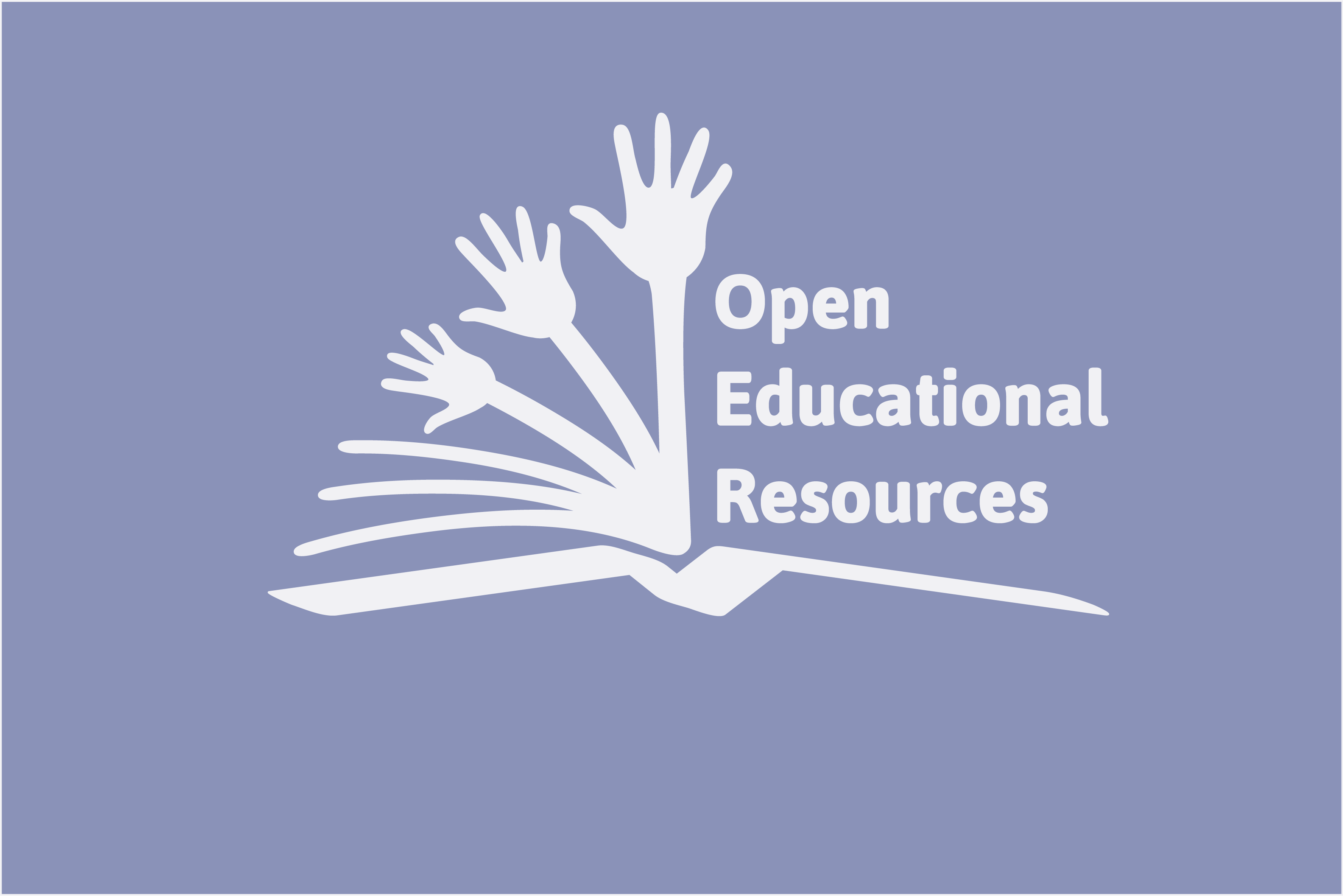 Global Open Educational Resources Logo in Wiki Education purple