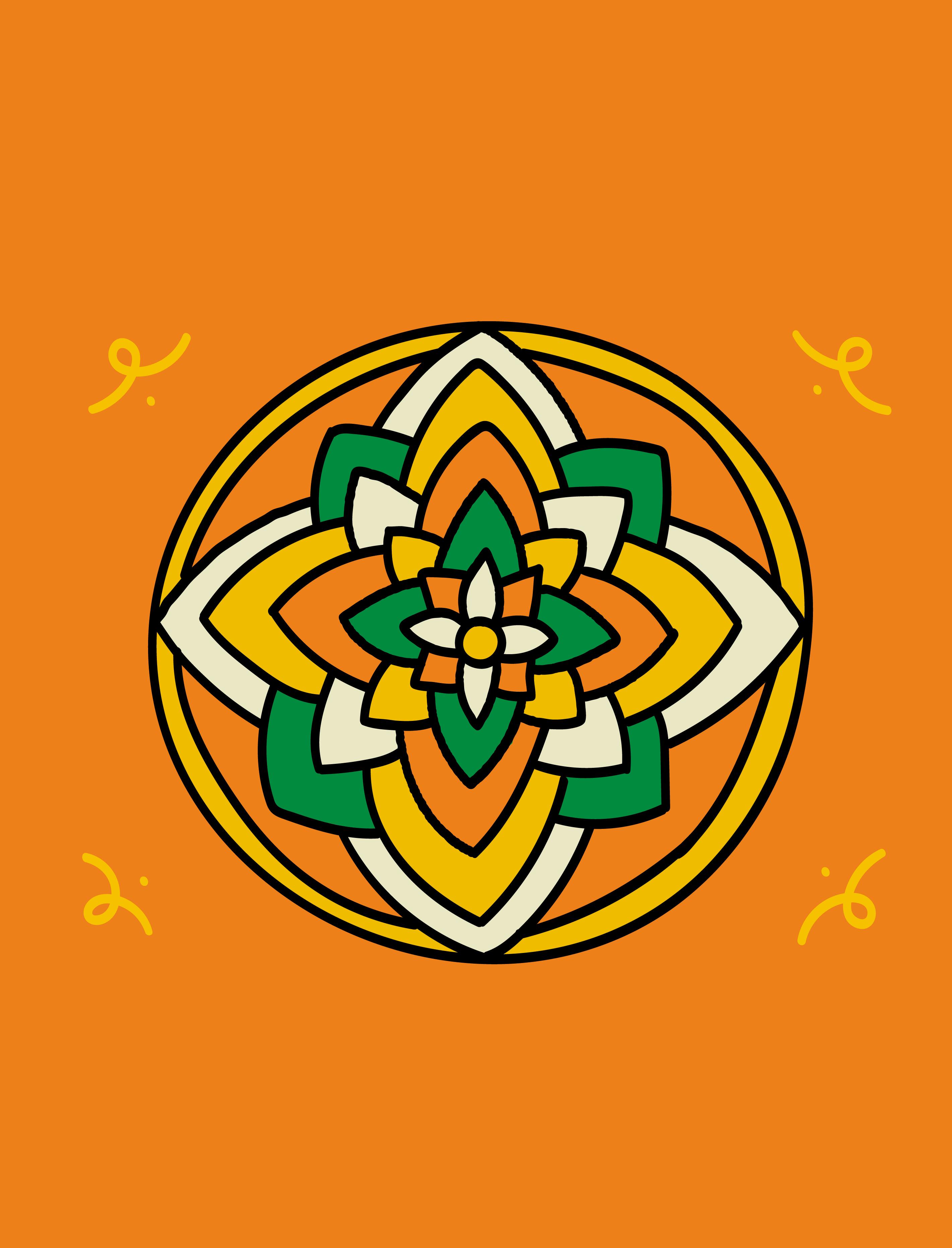 Wikipedia 20 symbol - Rangoli